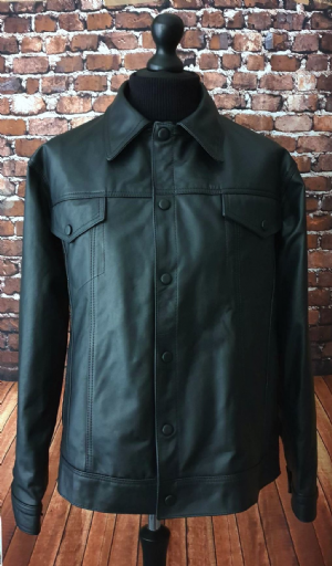 """Lomas""  Black  Short Superb Leather Jacket"